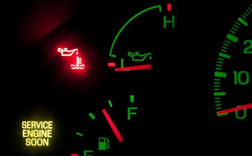 Jaguar Servicing Check engine light